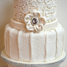 Textured 2-Tier Wedding Cake.jpg