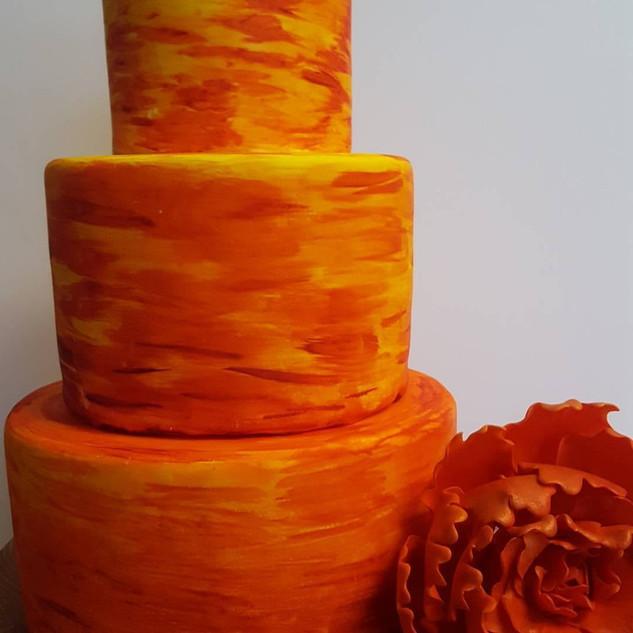 Sunset Fondant Cake