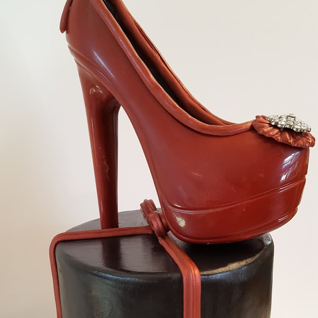 High Heel Chocolate Shoe Topper