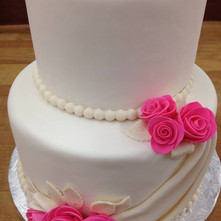 Simple 2-Tier Wedding Cake