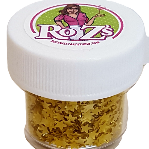 Ro Z's Gold Edible Shimmer Stars