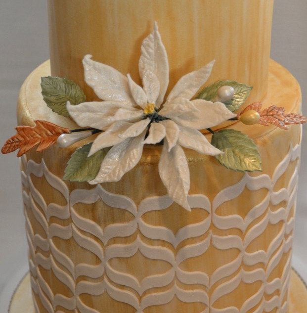 Painted Winter Themed Cake