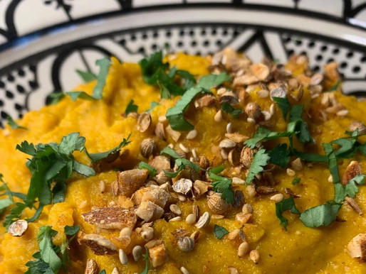 Pepper Spiced Carrot Dip with Dukkah