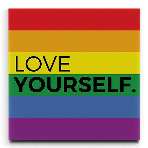LOVE YOURSELF - BLACK WOOD