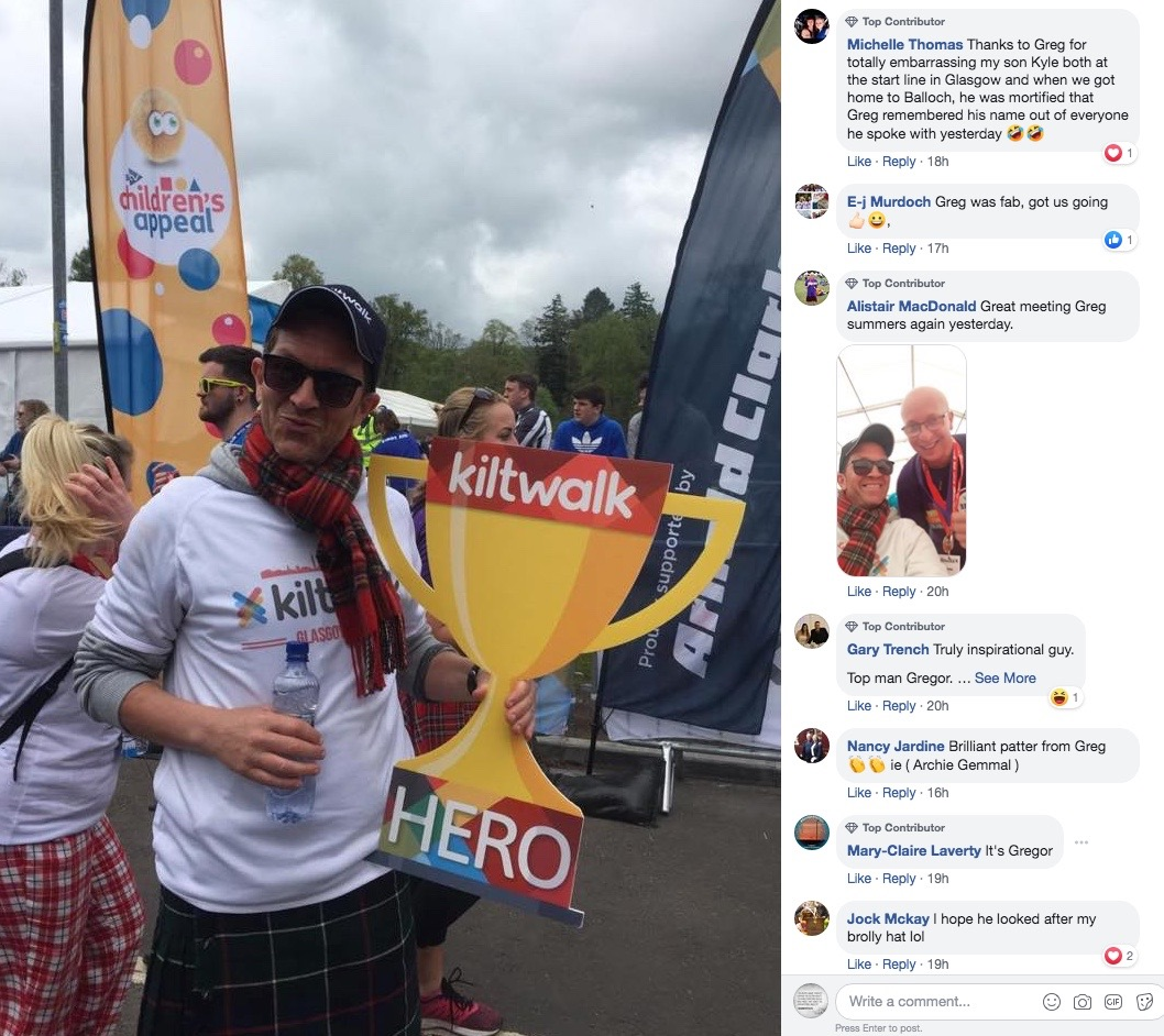 kiltwalk comments