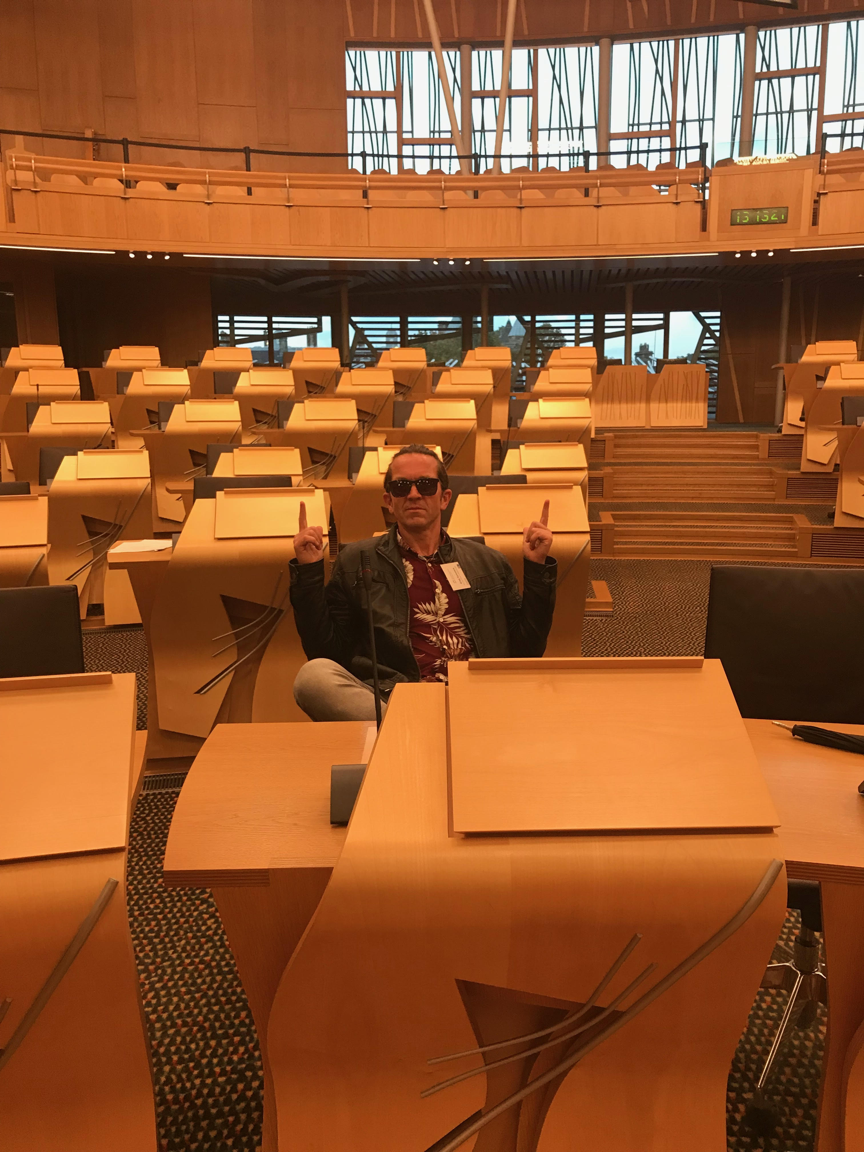 Speaking at Parliament