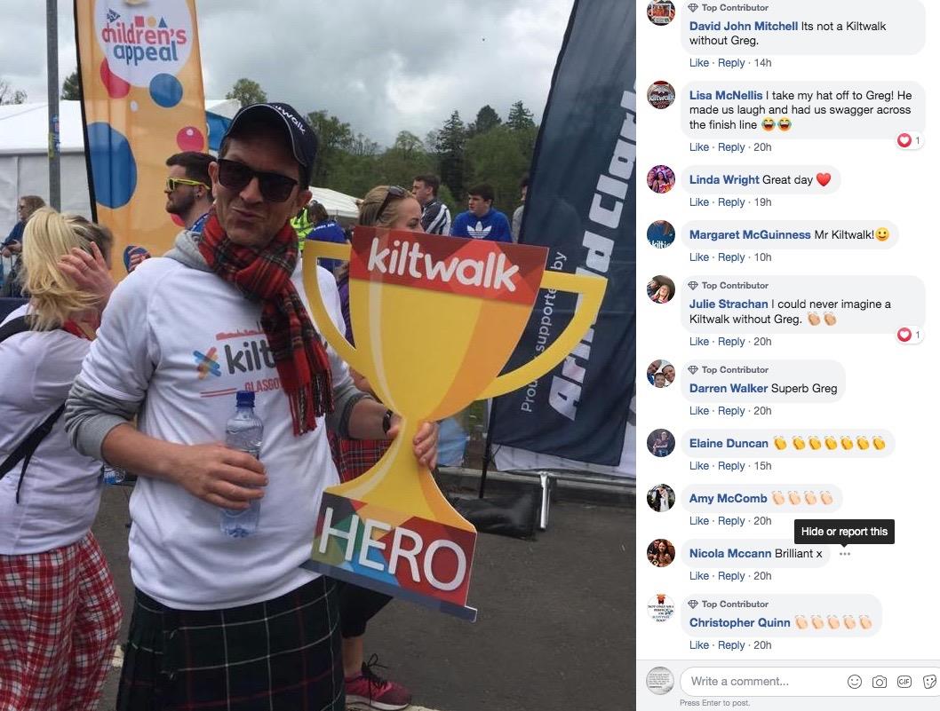 kiltwalk comments