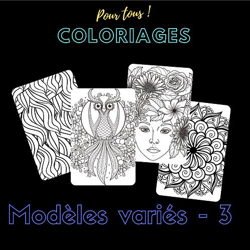 Coloriages pour tous ! Modèles variés -3