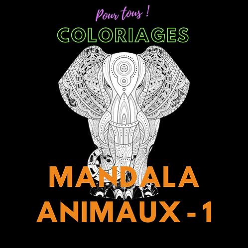 Coloriages pour tous ! Modèles Mandalas animaux - 1