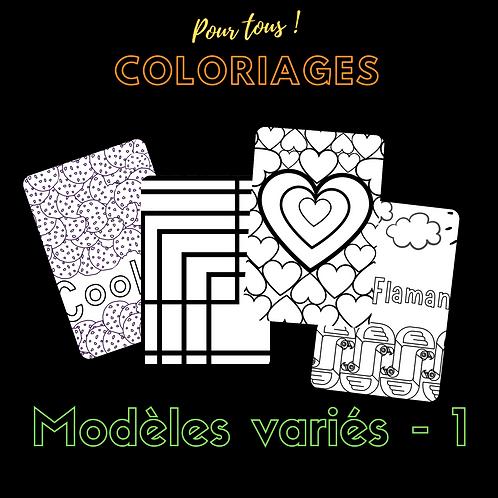 Coloriages pour tous ! Modèles variés - 1