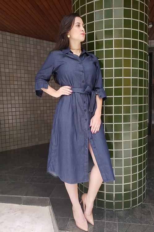 Vestido  Chemise Midi