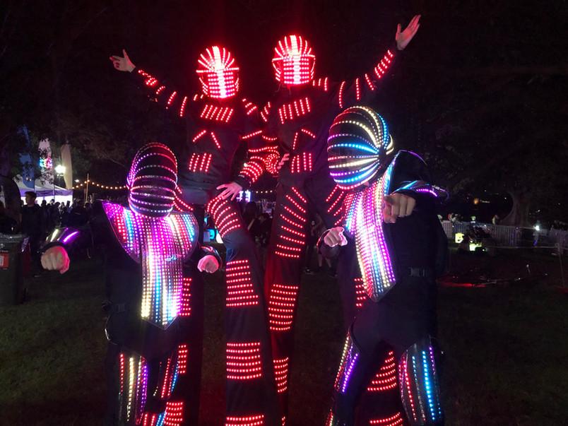 LED Robots Stilt Walkers