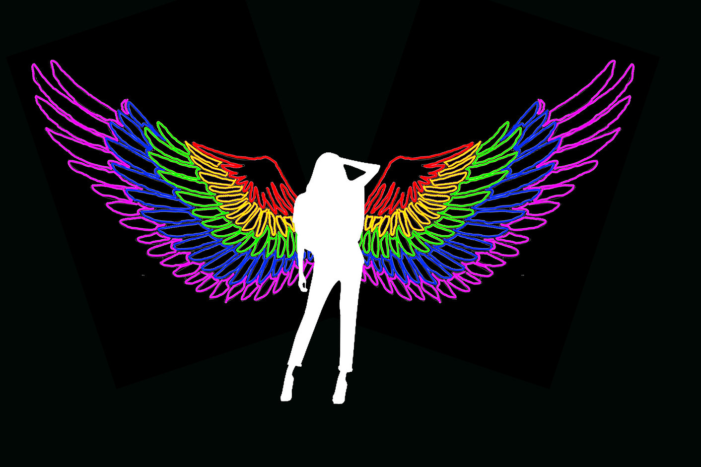 New design for our latest Neon Wings, enquire at Led Dancers, Sydney.