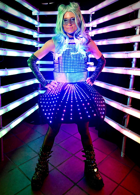 Led Performers in Sydney. Light performances. Nightclub entertainment.