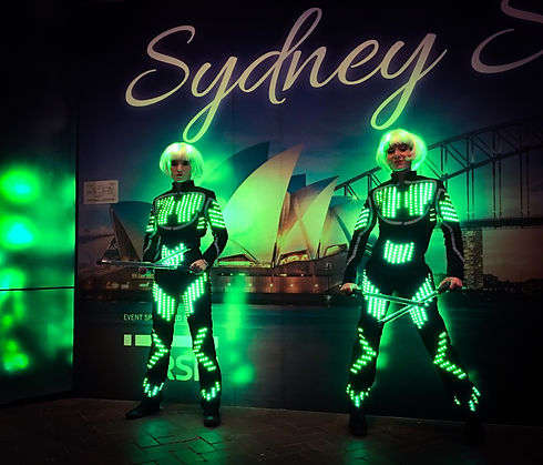LED show in Sydney, LED performers and Twirlers