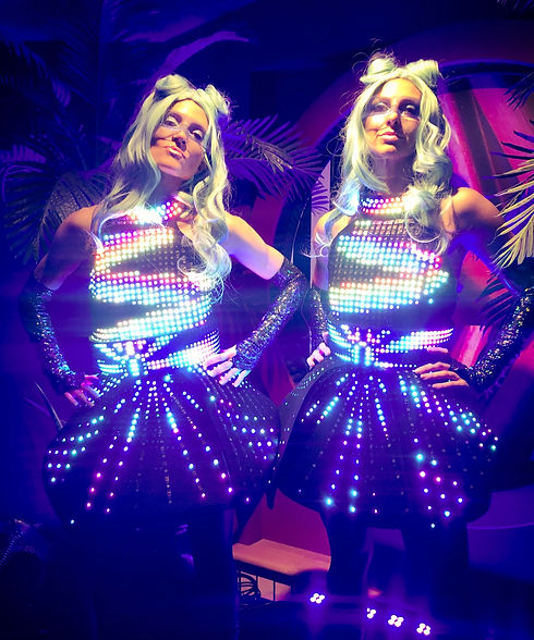 The Digidolls, LED performers for hire. Roving Entertainment Sydney