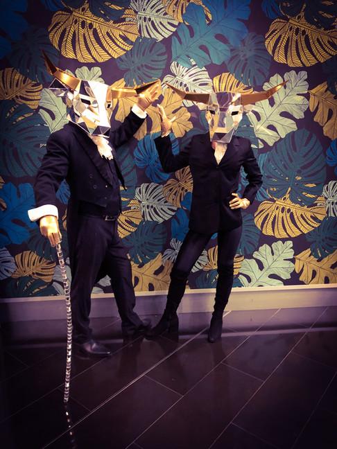 Mirror Head Bull Costumes