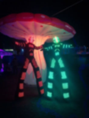 LED Stilt Walkers in Sydney for hire. LED performers for light festival and corporate events