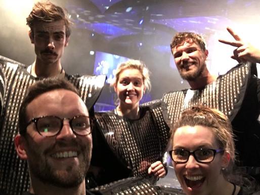 LED Dancers performance at Crown Casino Melbourne.