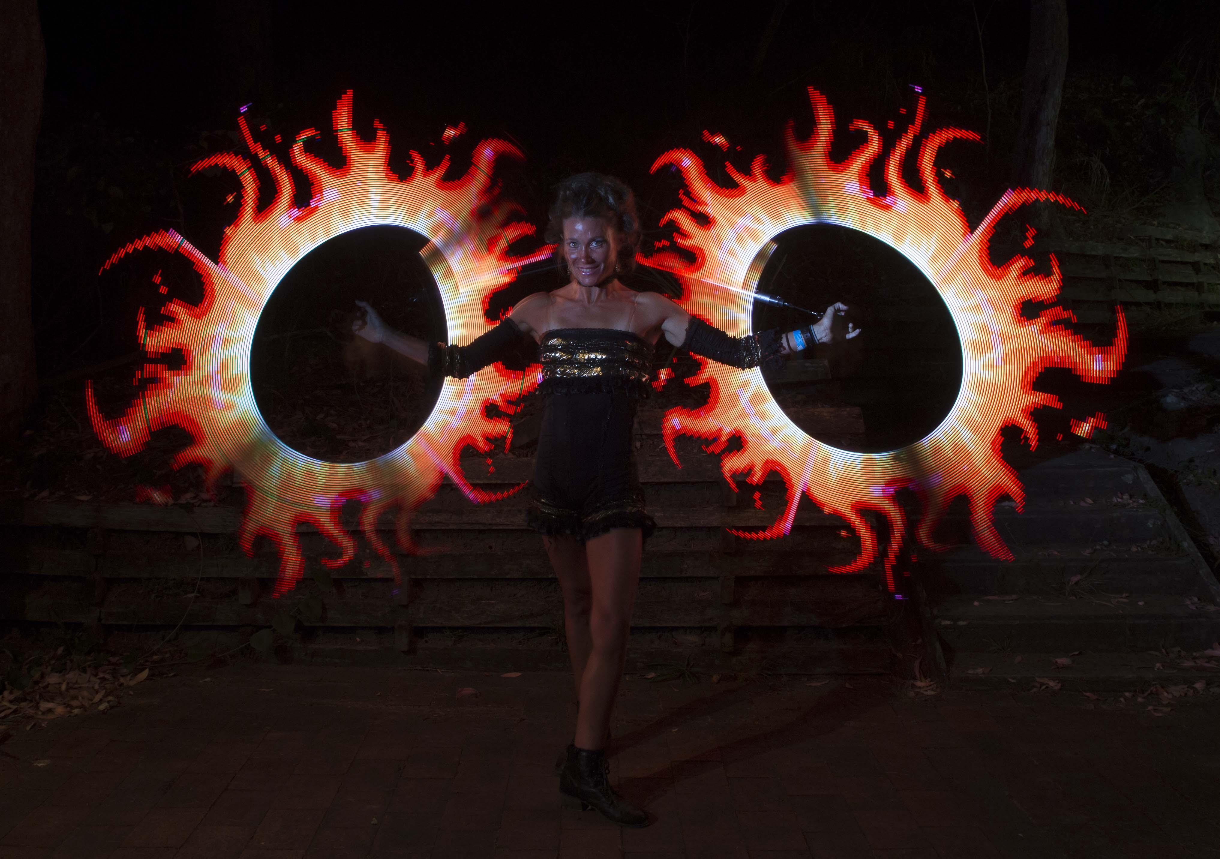 Fire Show Dancer   Sydney