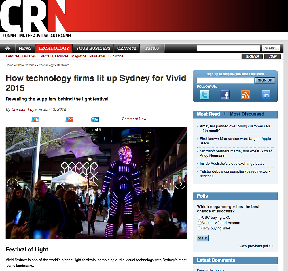 The LED Robots, Vivid 2015