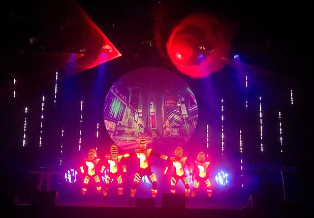 Led Dancers on stage at Sydney ICC