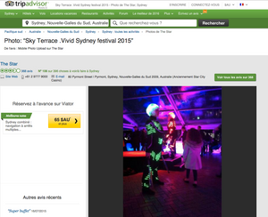 The Replicants at Sky Terrace, The Star, Vivid 2015