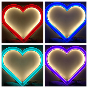Led Love Hear selfie Frame