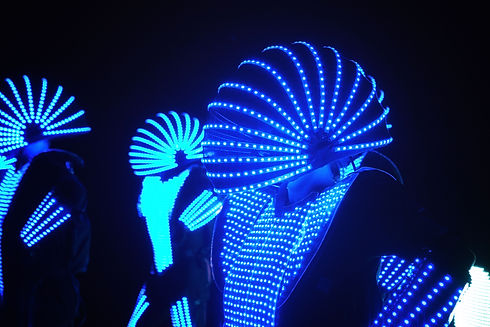 Amazing led costumes seen on stage at a corporate events in Sydney
