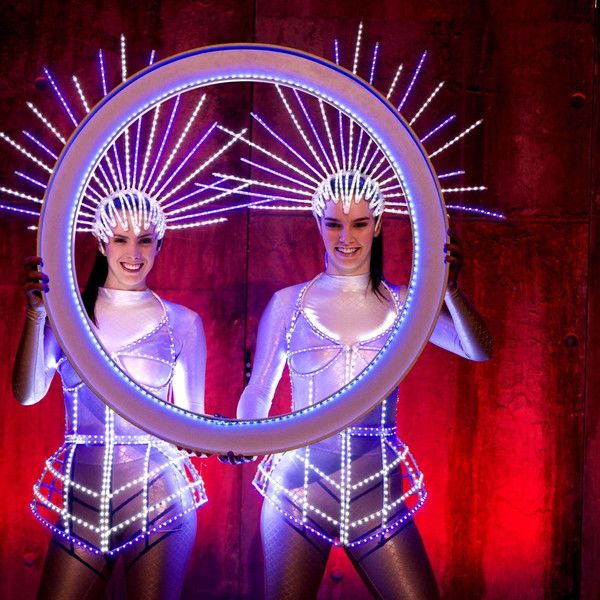 Led performers duo