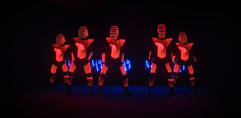 LED Dancers performance in Sydney