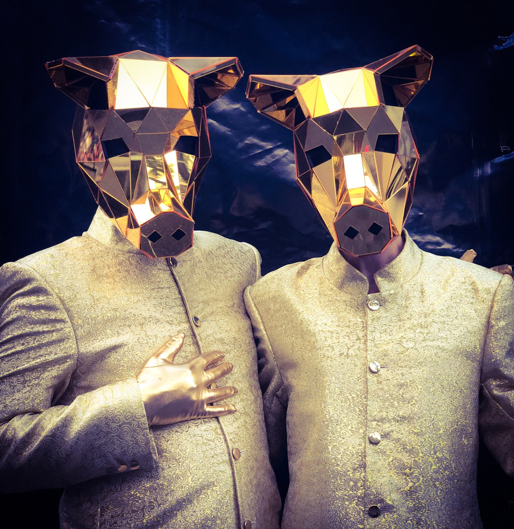 Pig head Mirror Costumes