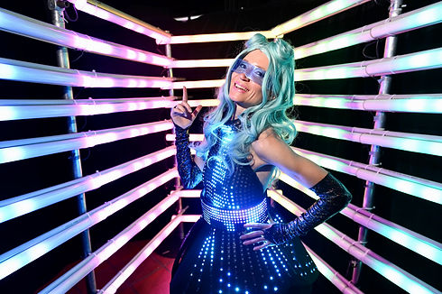The Digidolls. LED performers for hirew in Sydney.