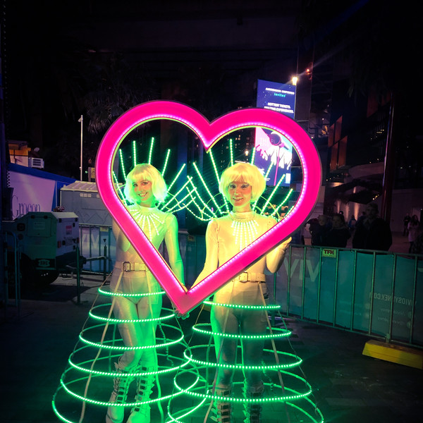 Cage Dresses and Love hear Led Frames