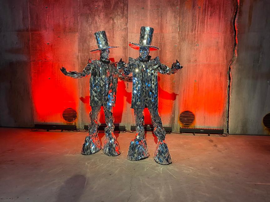 Mirror Man Costumes act