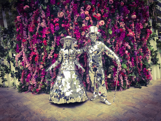 Mirror Man and Lady, Wedding Entertainers.