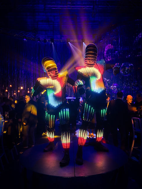 LED Performers for hire for private and corporate events in Sydney Australia.