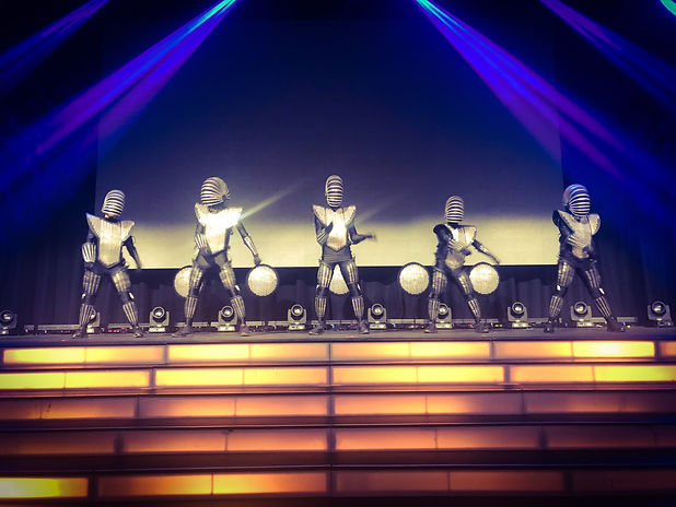 LED Dancers Rehearsing at The Star Casino Event Centre in Sydney.