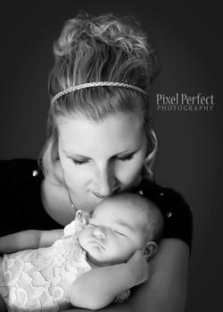 New mom and newborn baby girl