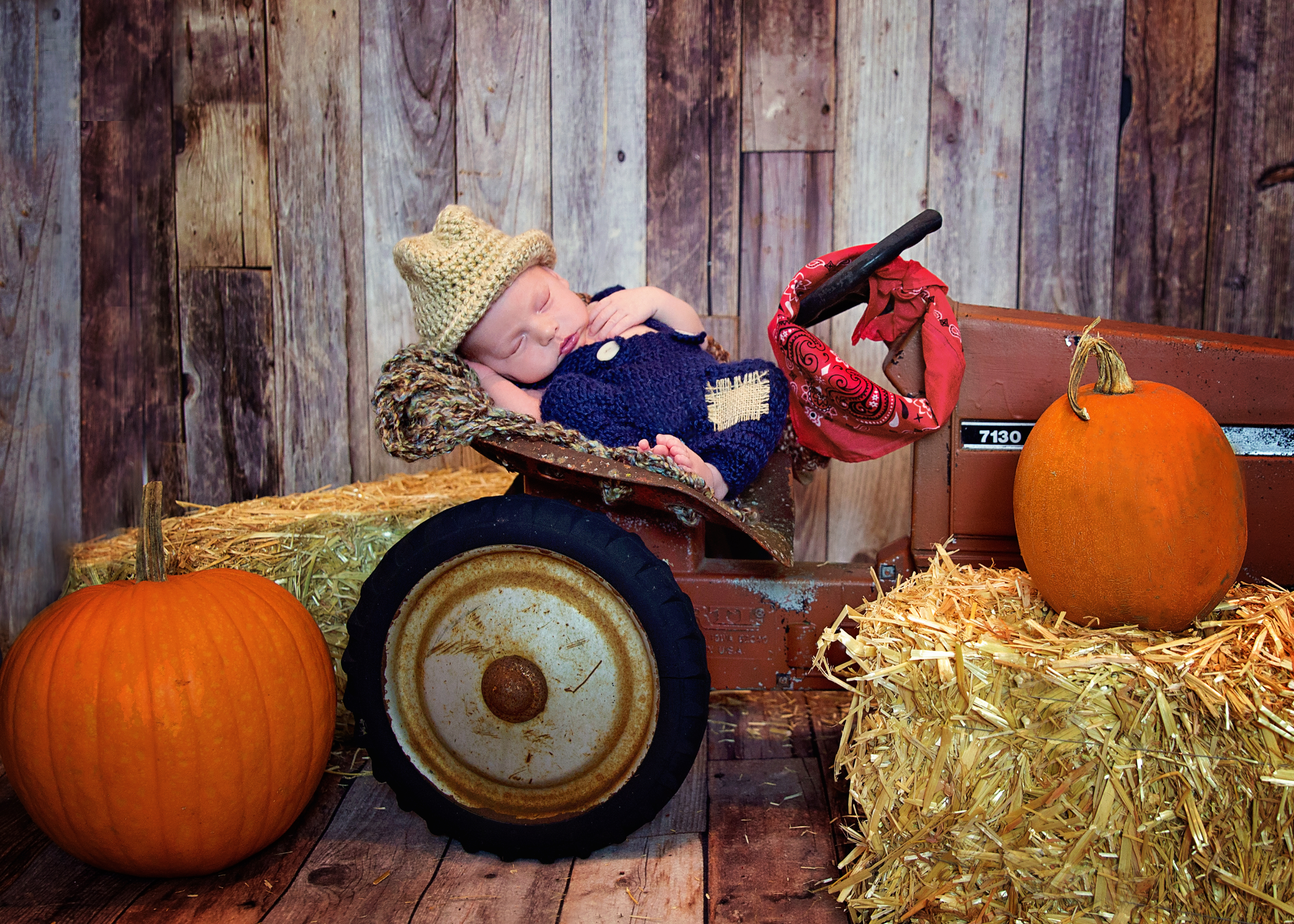 Newborn Farmer Photo