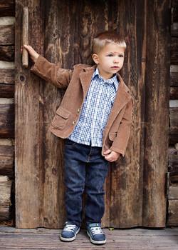 Rustic 3yr old boy