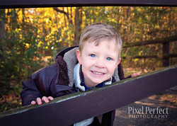 Fun fall session with boy
