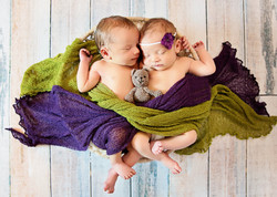 Twin Newborn boy and girl