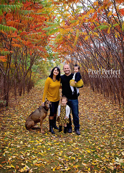 Fall Family photo at High Cliff
