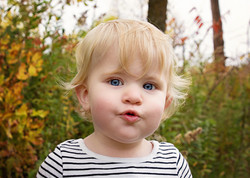 Toddler girl Fishy Face