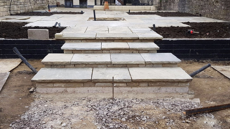 steps & retaining wall