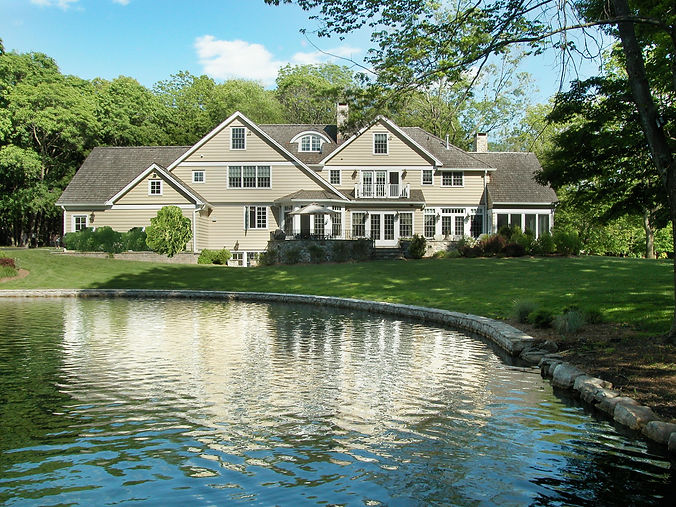 Shingle Style Exterior Pond Westfield New Jersey Residential Commercial Architect, Vincentsen Blasi