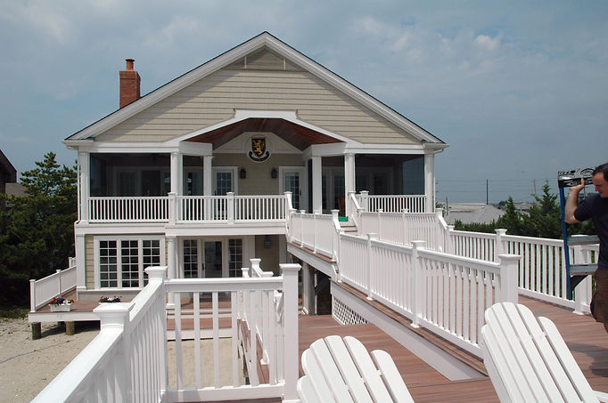 Contemporary, Addition, Alteration, Vacation Home, Balcony, Decking, Pier, Westfield, New Jersey, Architect