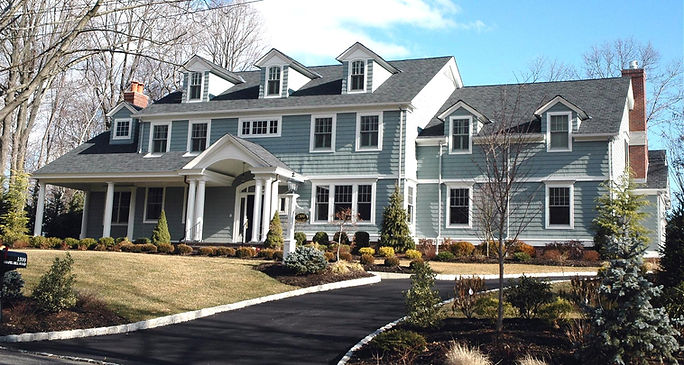 Shingle Style Front Elevation Westfield New Jersey Residential Commercial Architect