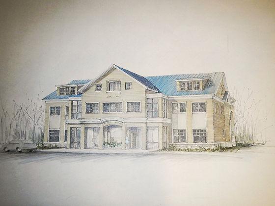Veterinary Hospital, Rendering, Westfield, New Jersey, Architect